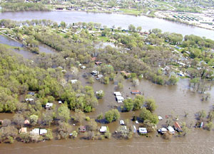 Aerial Photo of Flood