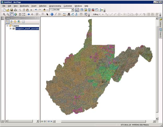Map service in ArcMap