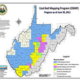 Coal Bed Map of West Virginia