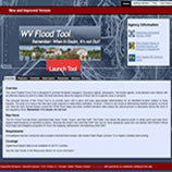 Image of the WV Flood Tool Website