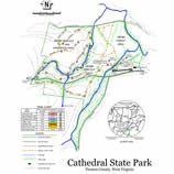 Trail map fo Cathedral State Park